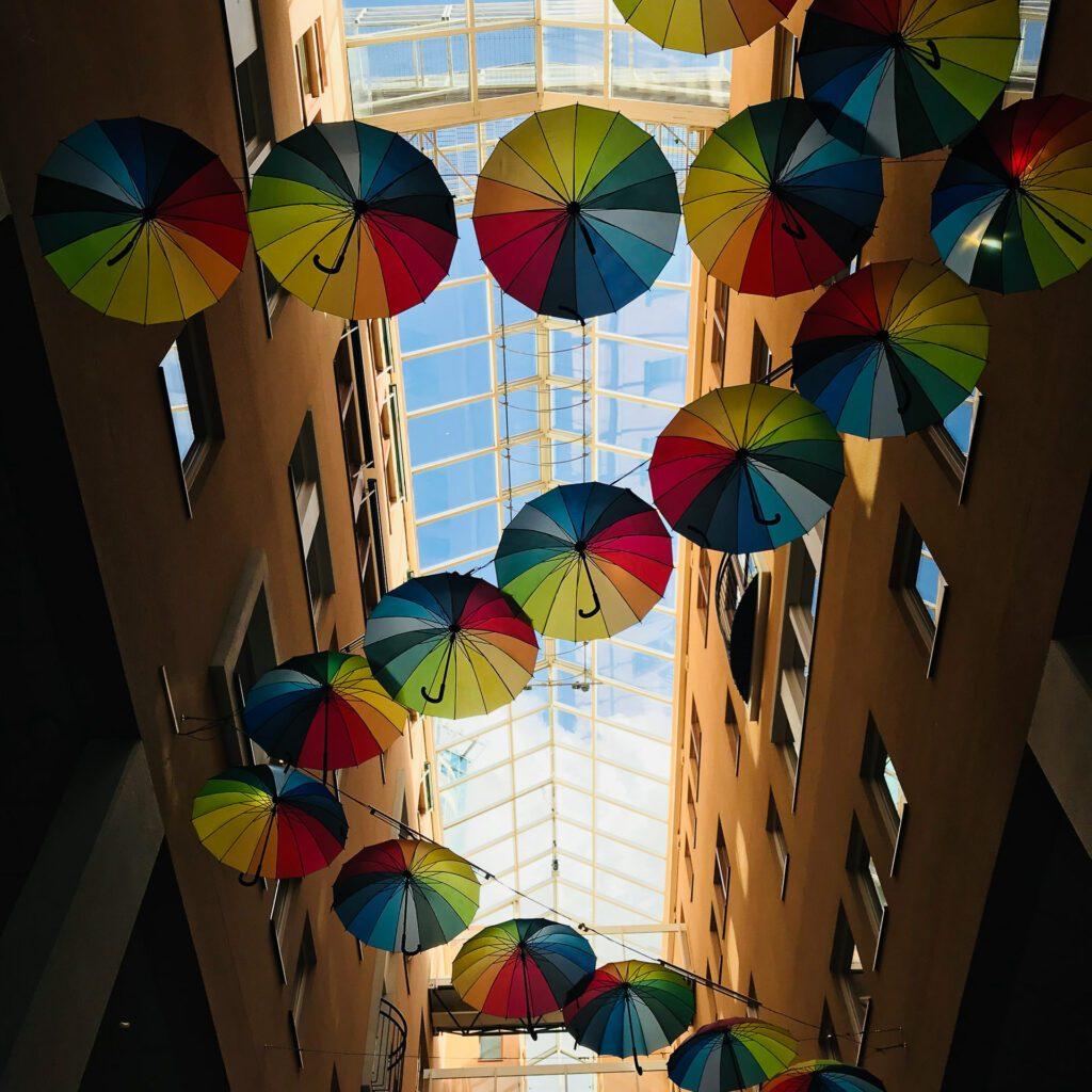 Paraplyer inomhus