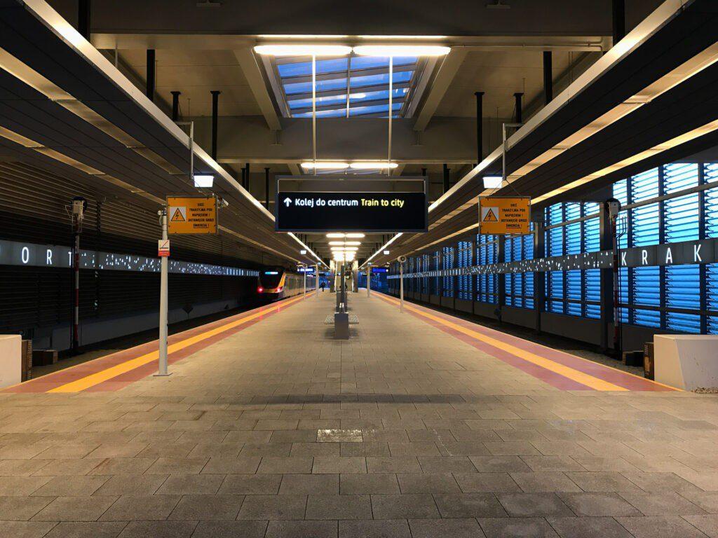 Stationen på Krakows flygplats.