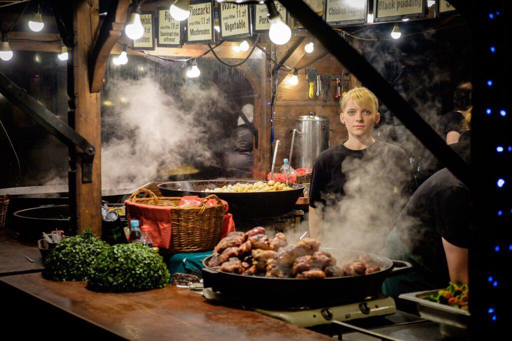 Krakow bjuder på mat i långa banor.