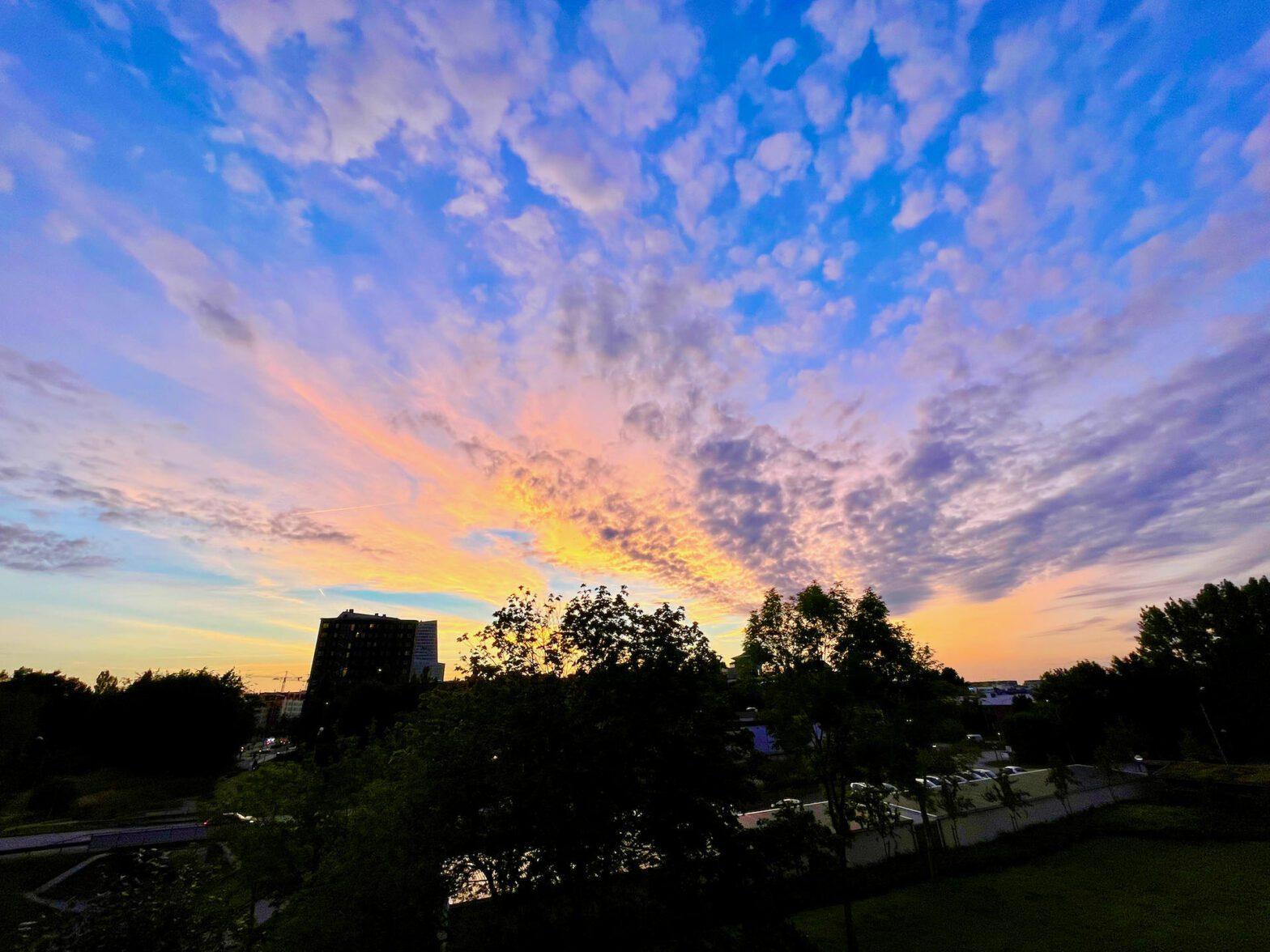 Vacker himmel över Hyllie